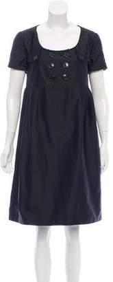 Burberry Scoop Neck Mini Dress
