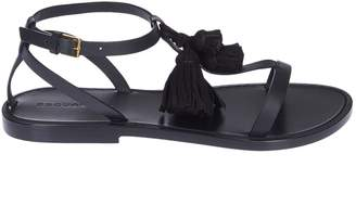 DSQUARED2 Tassel Detail Flat Sandals