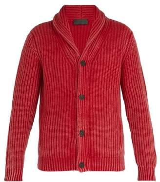 Iris von Arnim Calvin Shawl Collar Cashmere Cardigan - Mens - Red
