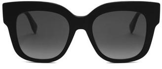 Fendi Oversized Cat Eye Acetate Sunglasses - Womens - Black