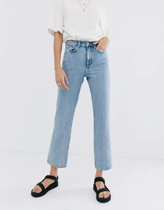 Weekday Voyage straight leg jeans in light blue