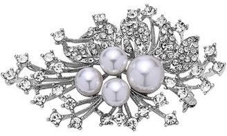 Women's Nina 'Crystal Spray' Crystal & Faux Pearl Brooch $55 thestylecure.com