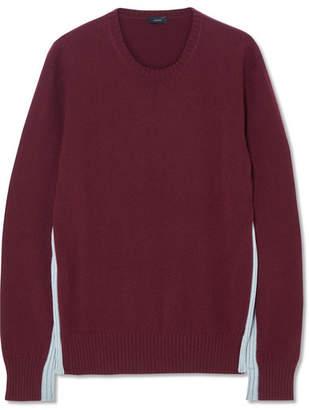 Joseph Paneled Two-tone Cashmere Sweater