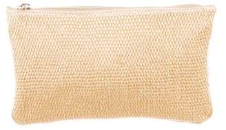 Stella McCartney Woven Vegan Leather Zip Pouch