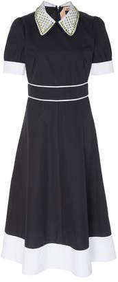 N°21 N 21 Lidia Embellished Collar Midi Dress