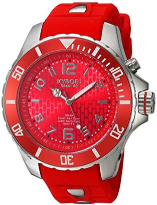 KYBOE!Power Collection Quartz Stainless Steel and Silicone Casual Watch