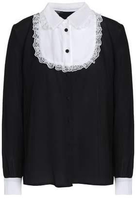 Raoul Lace-Trimmed Silk Crepe De Chine Shirt