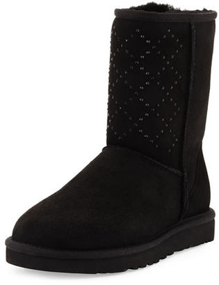 UGG Classic Short Crystal Suede Boot $265 thestylecure.com
