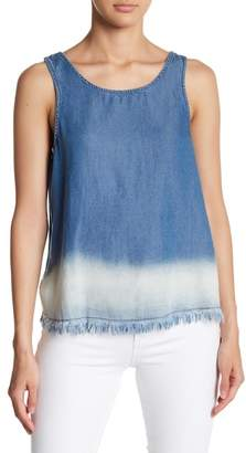 BB Dakota Ceanna Sleeveless Fringed Hem Tank Top