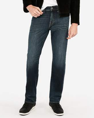 Express Relaxed Dark Wash Lightly Stretch Jeans