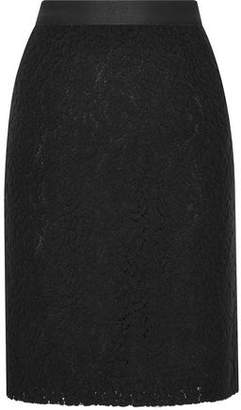 Vanessa Bruno Harena Wool And Cotton-Blend Felt-Lace Pencil Skirt