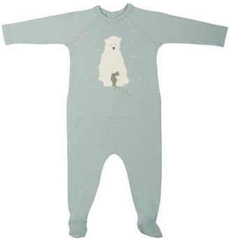 Bonpoint Long-Sleeve Raglan Bear & Bunny Footie Pajamas, Size 1-6 Months $110 thestylecure.com