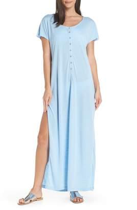 Leith Henley Cover-Up Maxi Dress