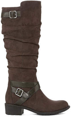 ST. JOHN'S BAY Womens Debra Wide Calf Riding Boots