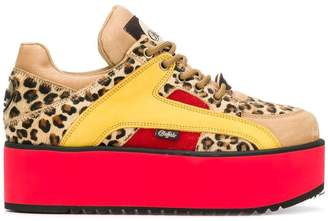 Buffalo David Bitton leopard print sneakers