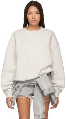 alexanderwang.t Grey Dense Fleece Sweatshirt
