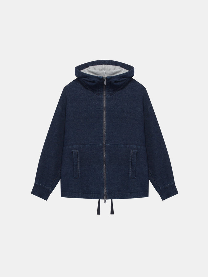 DKNYDkny Pure Oversized Zip Through Hoodie With Drawstring