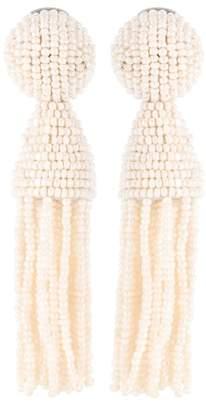 Oscar de la Renta Faux-pearl tassel earrings