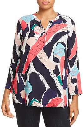 Nic+Zoe Plus Plus Love Letter Print Top