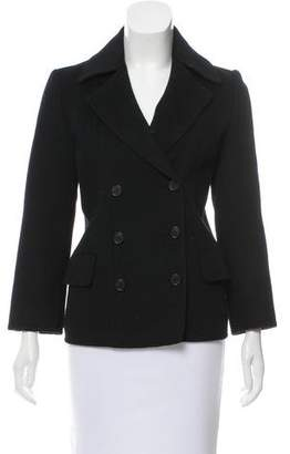 Michael Kors Double-Breasted Angora & Wool Coat