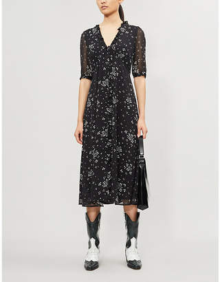 Gestuz Cindy heart-print recycled polyester midi dress