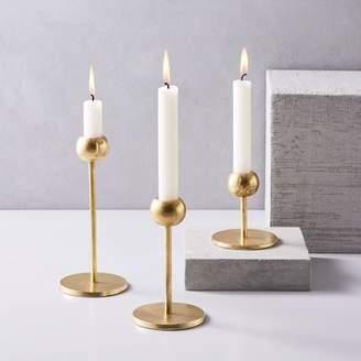 west elm Modern Brass Candleholders