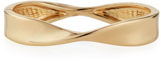 Lydell NYC Twisted Hinged Bangle Bracelet, Golden $25 thestylecure.com