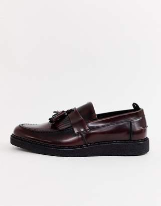 Fred Perry George Cox loafers in oxblood
