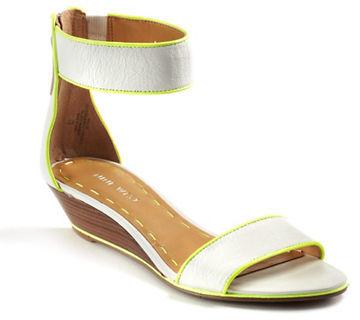 Nine West Vilta Leather Wedge Sandals