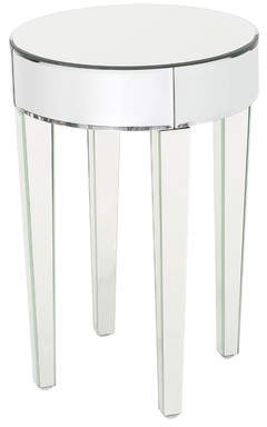 Willa Arlo Interiors Curry Mirrored End Table