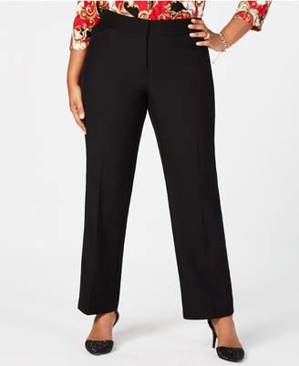 JM Collection Plus Size Straight-Leg Trousers