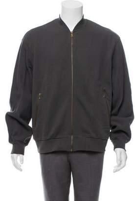 Dries Van Noten Zip-Up Bomber Jacket w/ Tags grey Zip-Up Bomber Jacket w/ Tags