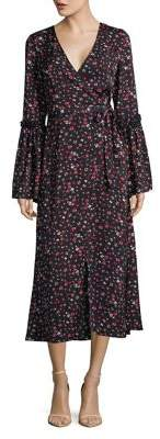 The Fifth Label Sonic Floral Bell-Sleeve Wrap Dress