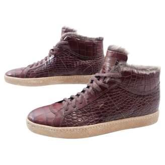 Santoni Leather trainers