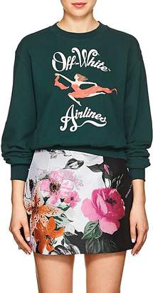 "Off-White Women's Airlines"" Cotton Crop Sweatshirt"