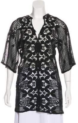 Miguelina Crochet Short Sleeve Tunic