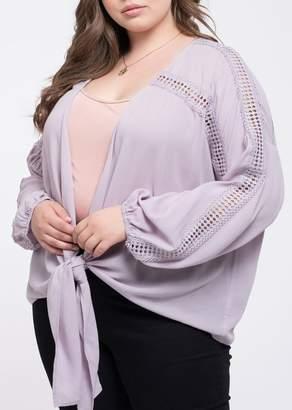 Blu Pepper Perch by Front Tie Kimono (Plus Size)