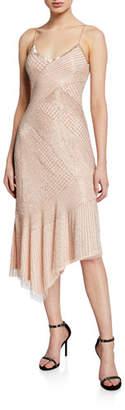 Athena Parker Black Beaded Asymmetric Slip Dress