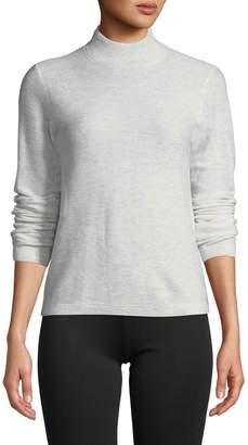 Vince Waffle-Knit Mock-Neck Wool-Cashmere Sweater