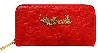 Disney Minnie Mouse Embossed Zip Wallet $34 thestylecure.com