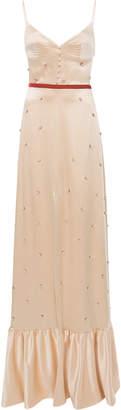 Markarian Arabian Song Beaded Silk Gown
