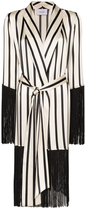 Leone We Are fringed stripe robe
