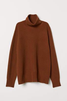 H&M Cashmere-blend Turtleneck - Beige