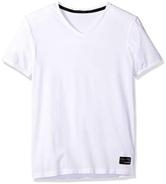 GUESS Men's V Neck T-Shirt
