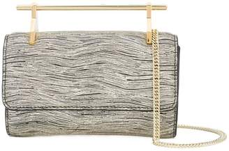 M2Malletier textured metallic handle clutch