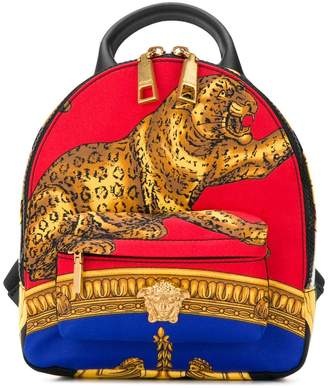 Versace tiger print mini backpack