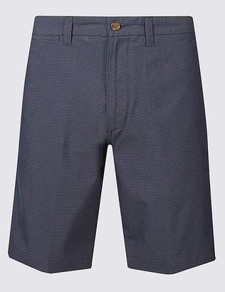 Marks and Spencer Big & Tall Cotton Rich Checked Chino Shorts