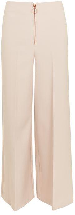 TopshopTopshop Zip front wide leg trousers