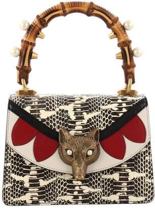 Gucci Bamboo Multicolour Water snake Handbag