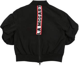 Stella McCartney Logo Band Nylon Bomber Jacket